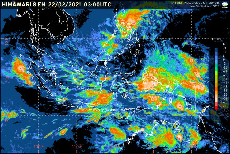 Foto: Ilustrasi Citra Satelit BMKG