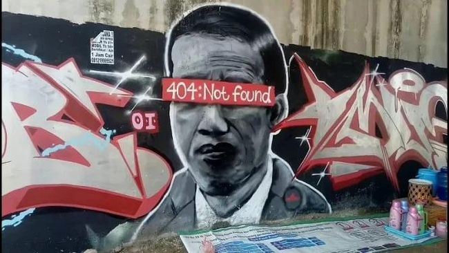 Mural '404: Not Found'