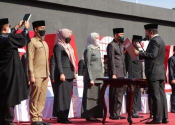 Bertempat di Anjungan Pantai Losari, Wali Kota Makassar Danny Pomanto kembali melantik 47 pejabat lingkup Pemerintah Kota Makassar, Rabu (1/9/2021)/ Sumber: IG @dannypomanto